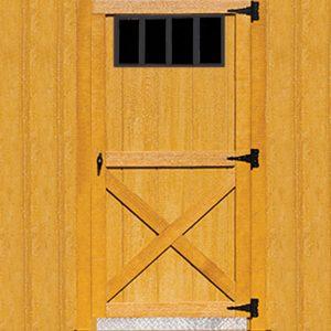 36 Single 4 Lite Barn Door