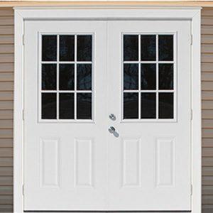 72 Prehung Double 9 Lite Door