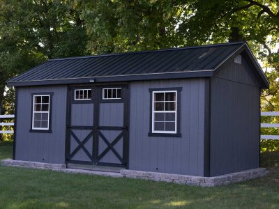 Painted deluxe shed