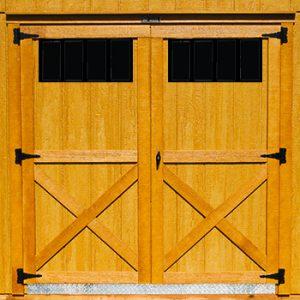 """72"""" Double 4 Lite Barn Door"""
